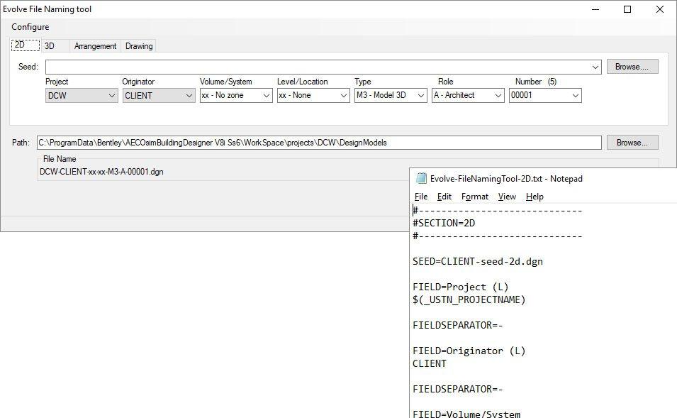 Evolve File Naming tool